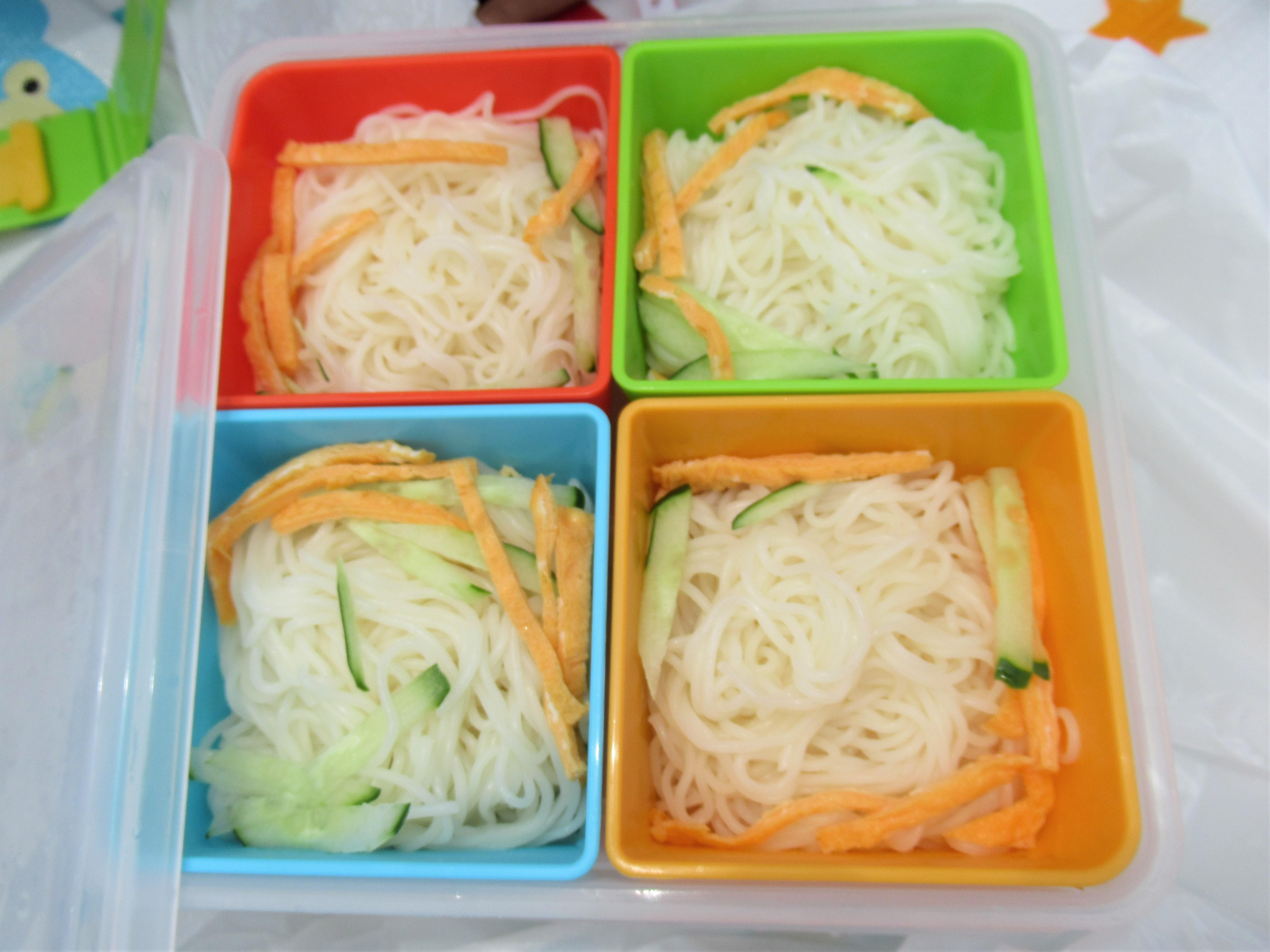 簡単弁当|そうめんを弁当にする方法☆めんつゆは前日に水を冷凍庫に入れておくだけ