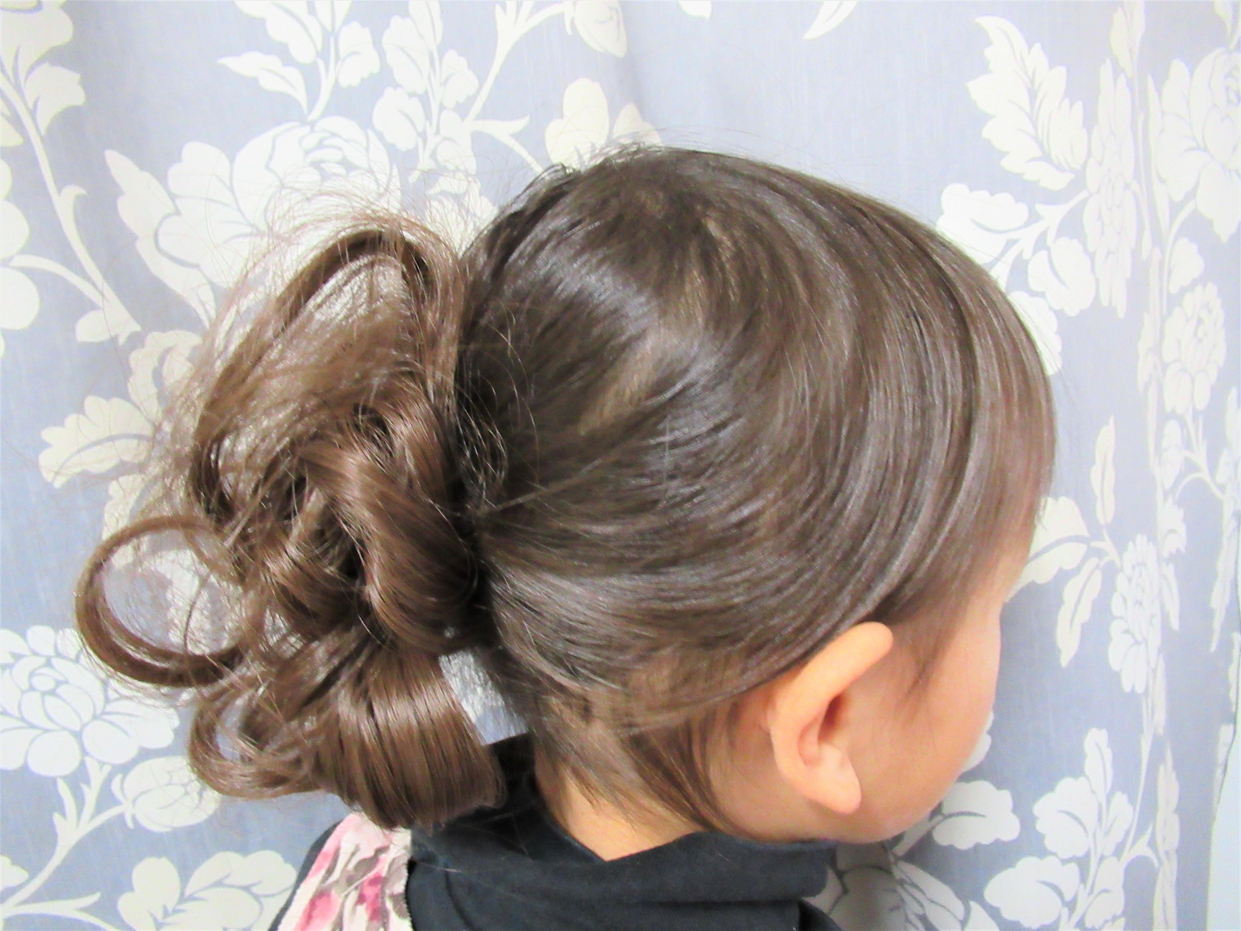 七五三・お正月・結婚式にも!髪の少ない女の子の簡単ヘアアレンジ
