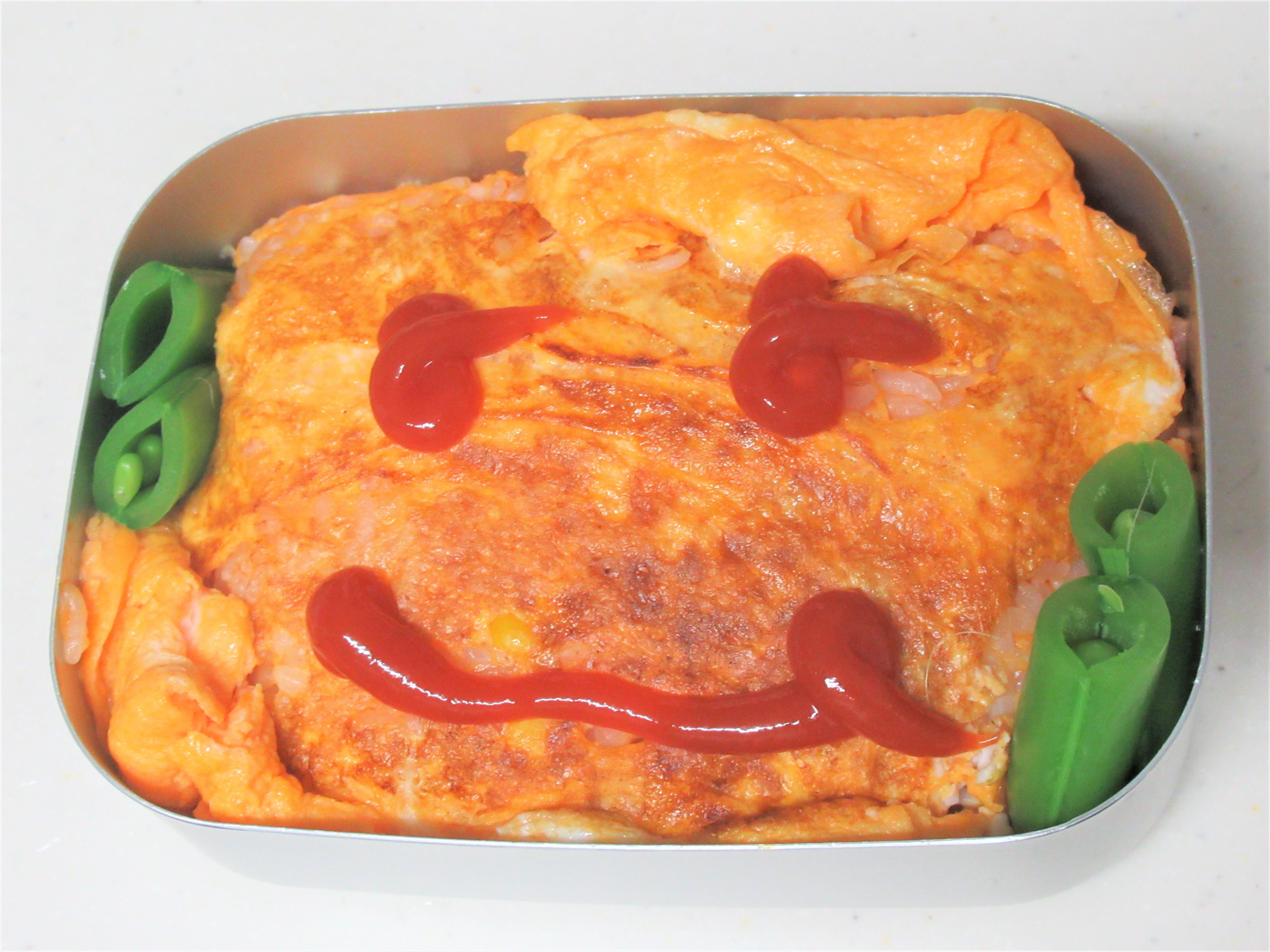簡単弁当|弁当にピッタリサイズのオムライスの作り方
