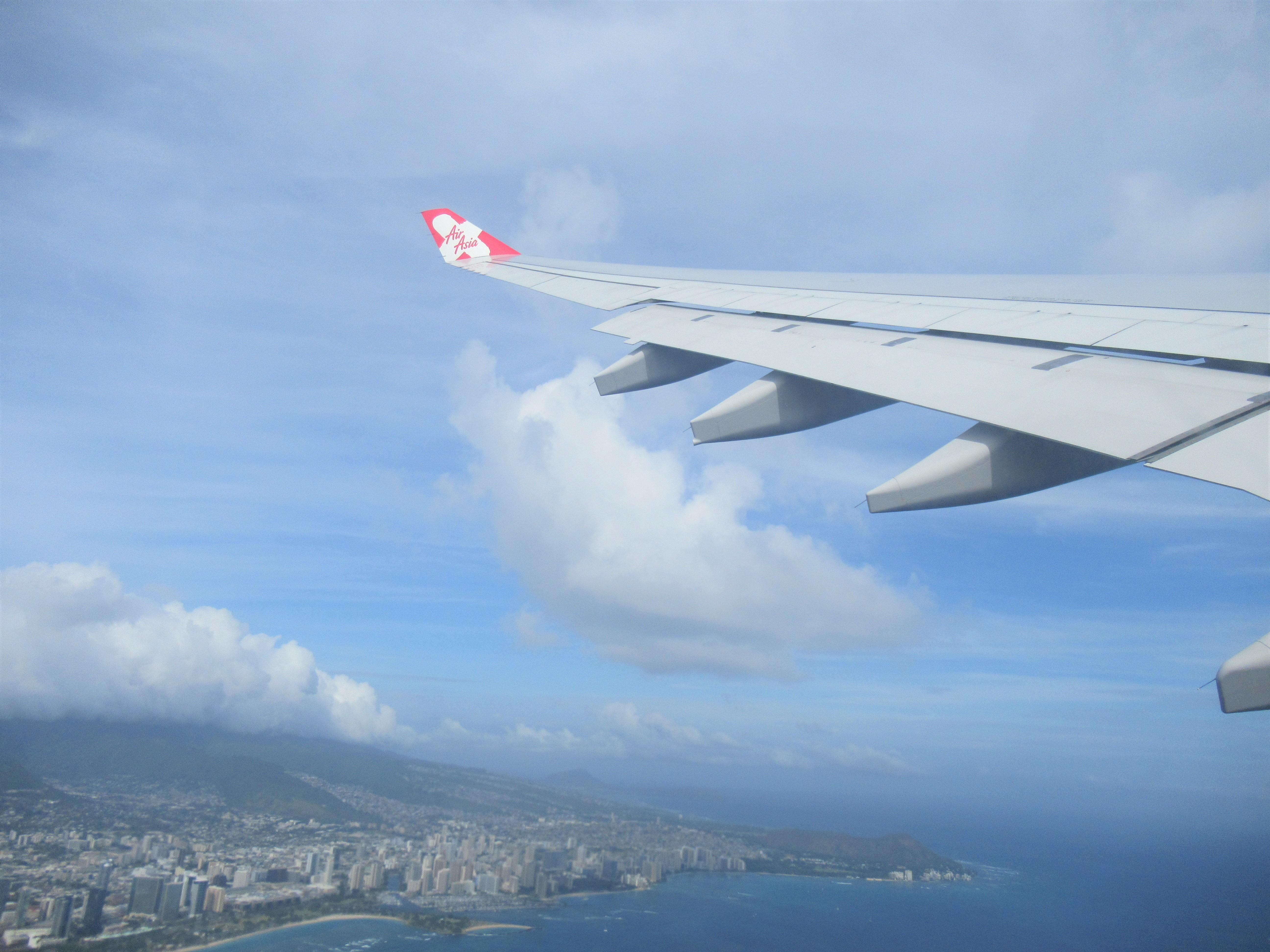 エアアジアで子連れハワイ帰国便☆ホノルル~関空の機内食なし搭乗記|ハワイ子連れブログ旅