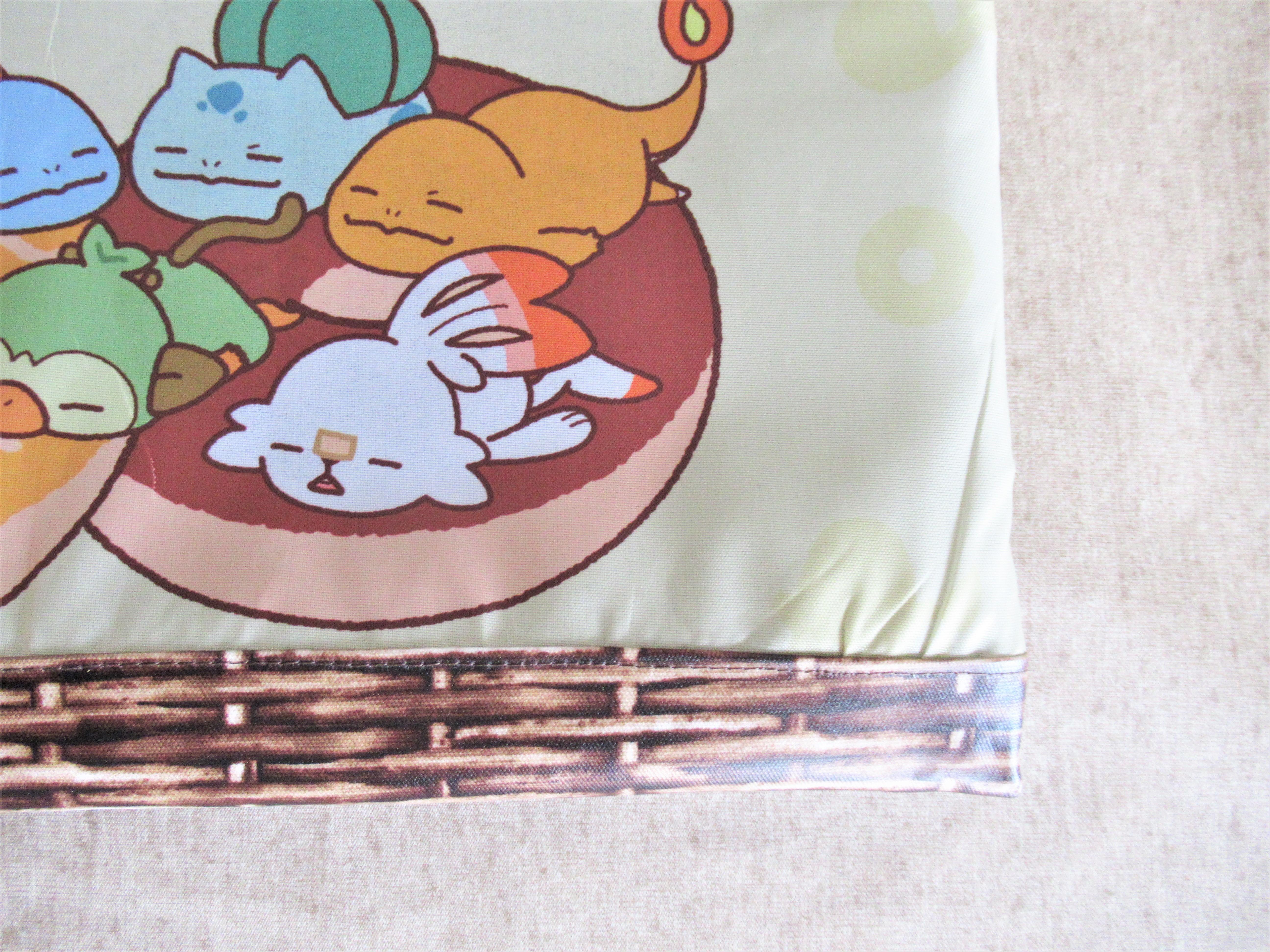 小学校の【手提げバッグの作り方】ミスドのポケモンエコバッグを入学グッズにリメイク|簡単手芸ブログ